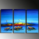 Classical Blue ocean sight ! Framed Oil on Canvas Seascape Painting SE-058