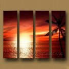 Above The Clouds At Sunrise _Framed Oil on Canvas Seascape Painting SE-069
