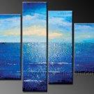 Blue Ocean Scenery ~ Framed Oil on Canvas Seascape Painting SE-071