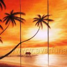 Amazing Ocean Scenery! Framed Oil on Canvas Seascape Painting SE-095