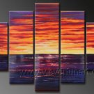Beautiful Ocean In the Morning_Framed Oil on Canvas Seascape Painting SE-125