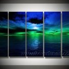 Dark Blue Sea_Framed Oil on Canvas Seascape Painting SE-147