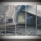 Power OF The Ocean_Framed Oil on Canvas Seascape Painting SE-172