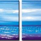 Popular Big Blue Ocean_Framed Oil on Canvas Seascape Painting SE-015