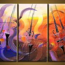 Abstract Musical Instrument Oil Painting On Canvas Wall Art Framed  XD3-210