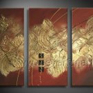 Brown And Gold Abstract Oil Painting On Canvas Wall Art Framed XD3-214