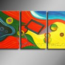 Colorful Wave Abstract Oil Painting On Canvas Wall Pictures Framed  XD3-223