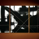 Simple Black Abstract Oil Painting On Canvas Wall Pictures Framed  XD3-225