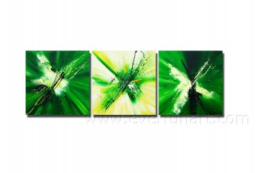 Green And Yellow Beautiful Absrtact Oil Painting On Canvas Fine Art Framed XD3-246