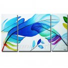 Beautiful Plume Absrtact Oil Painting On Canvas Wall Art Framed XD3-263