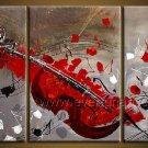 Huge Violin Absrtact Oil Painting On Canvas Fine Art Framed XD3-265