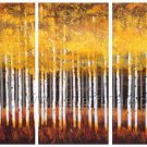 Autumn Trees Landscape Oil Painting On Canvas Wall Art Fremed LA3-133