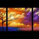 Beautiful Landscape Oil Painting Tree And Clouds Wall Decor Fine Art LA3-153