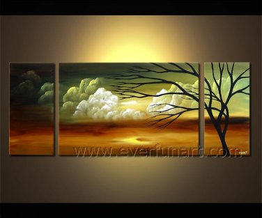 Golden Tree Art Painting Modern Landscape Oil Painting On Canvas LA3-163