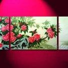Modern lovely Pink Flower Landscape Oil Painting On Canvas Wall Decor Fine Art LA3-166