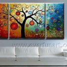 Popular Imaginative Tree Art Landscape Oil Painting On Canvas Wall Decor Fine Art LA3-168
