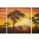 Red Sunset Landscape Oil Painting On Canvas Wall Decor Fine Art LA3-169