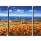Golden Field Landscape Oil Painting On Canvas Wall Decor Fine Art  LA3-175