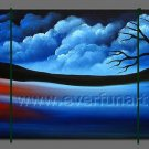 Attractive Beautiful Landscape Group Oil Painting On Canvas LA3-177