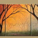 Moon Light Shadow Landscape Oil Painting On Canvas Wall Decor Fine Art LA3-183