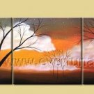 Great Sunset Tree Shadows Landscape Oil Painting On Canvas Wall Decor Fine Art LA3-185