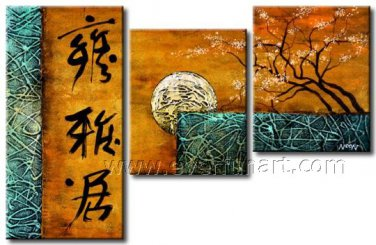 Popular Chinese Style Home Decor Landscape Oil Painting On Canvas LA3-190