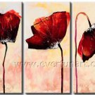 3 Shy Flowers Oil Painting On Canvas Wall Art Group Pictures FL3-145