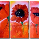 Happy Flowers Smiling To You Canvas Art Oil Painting House Decor FL3-147