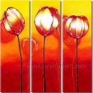 Warm Color Flowers Floral Oil Painting Home Decor Wall Art FL3-154