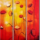 Great Red And Yellow Flowers Home Decor Floral Oil Painting Wall Art PFL3-155