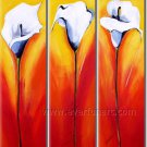 New Beautiful Lily Floral Oil Painting Great Painting Home Decor FL3-156
