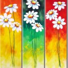 Fresh White Flower Group Painting Home Decorative Canvas Art FL3-161