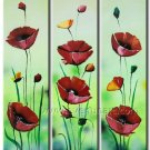 Modern Flower Oil Painting Abstract Landscape Wall Art Framed FL3-164