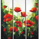 yellow red pink abstract flower large oil painting canvas floral contemporary FL3-169