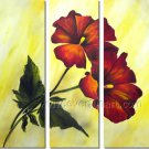 the red rose flower huge oil painting canvas modern contemporary floral art framed FL3-170
