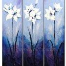 Marvelous floral oil on canvas painting Framed FL3-172