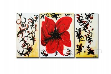 Framed Dancing Poppies Floral hand painted oil painting FL3-179