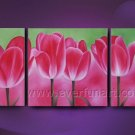 abstract pink tulips flowers large oil painting canvas modern floral art FL3-190