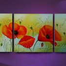 red poppies field flower large oil painting canvas modern floral contemporary FL3-192