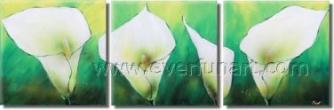 Canvas Wall Art Oil Painting Modern Decor Hand Painted Colourful Abstract Lily FL3-210