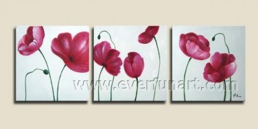 Poppies Party Floral hand painted oil painting Framed FL3-218
