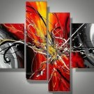 Professional Hand-pained Modern Abstract Oil Painting on Canvas for Wall Decor Framed XD4-191
