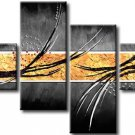 Handmade Modern Wall Decor Art 4-piece Abstract Oil Painting On Canvas XD4-215