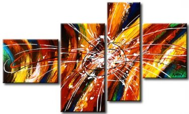 Top Quality Wall Decor Art 100% Hand-painted Group Modern Abstract Oil Painting on Canvas XD4-233
