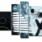 100% Hand-painted 4-piece Modern Abstract Oil Painting on Canvas for Wall Decor XD4-235