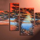 Excellent 100% Hand-painted Modern Abstract Landscape Canvas Art Wall Decor Oil Painting LA4-040
