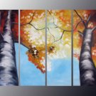 Handpainted 4-piece Landscape Oil Painting on Canvas for Wall Decor by Professional Artist  LA4-043