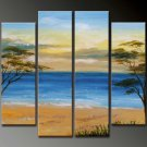 Handpainted 4-piece Landscape Oil Painting on Canvas by Professional Artist for Wall Decor LA4-056