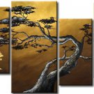 Wall Decor Art 4-piece Handpainted Landscape Oil Painting on Canvas Framed  LA4-058
