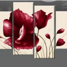 Museum Quality! Hand-painted Modern Wall Decor Flower Canvas Art Oil Painting FL4-101